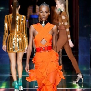 heriethpaul for balmainparis at parisfashionweek paris fashion instafashion collection runwayhellip