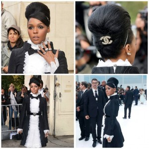 janellemonae looks fabulous in her baroque look at chanel fashionshoWhellip