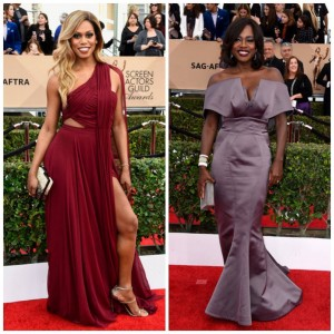 lavernecox and violadavis at sagawards2016 redcarpet fashion instafashion outfit ootdhellip