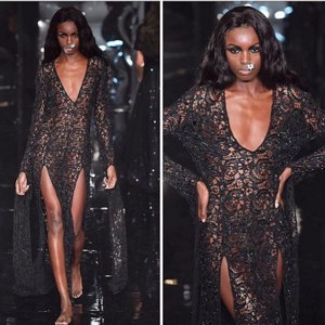 leomieanderson wearing a sequindress for ashishuk fashionshow lfwss18 fashion instafashionhellip
