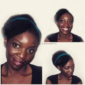 coiffure du jour chignon avec frange tissage par nappywefthair Hairstylehellip