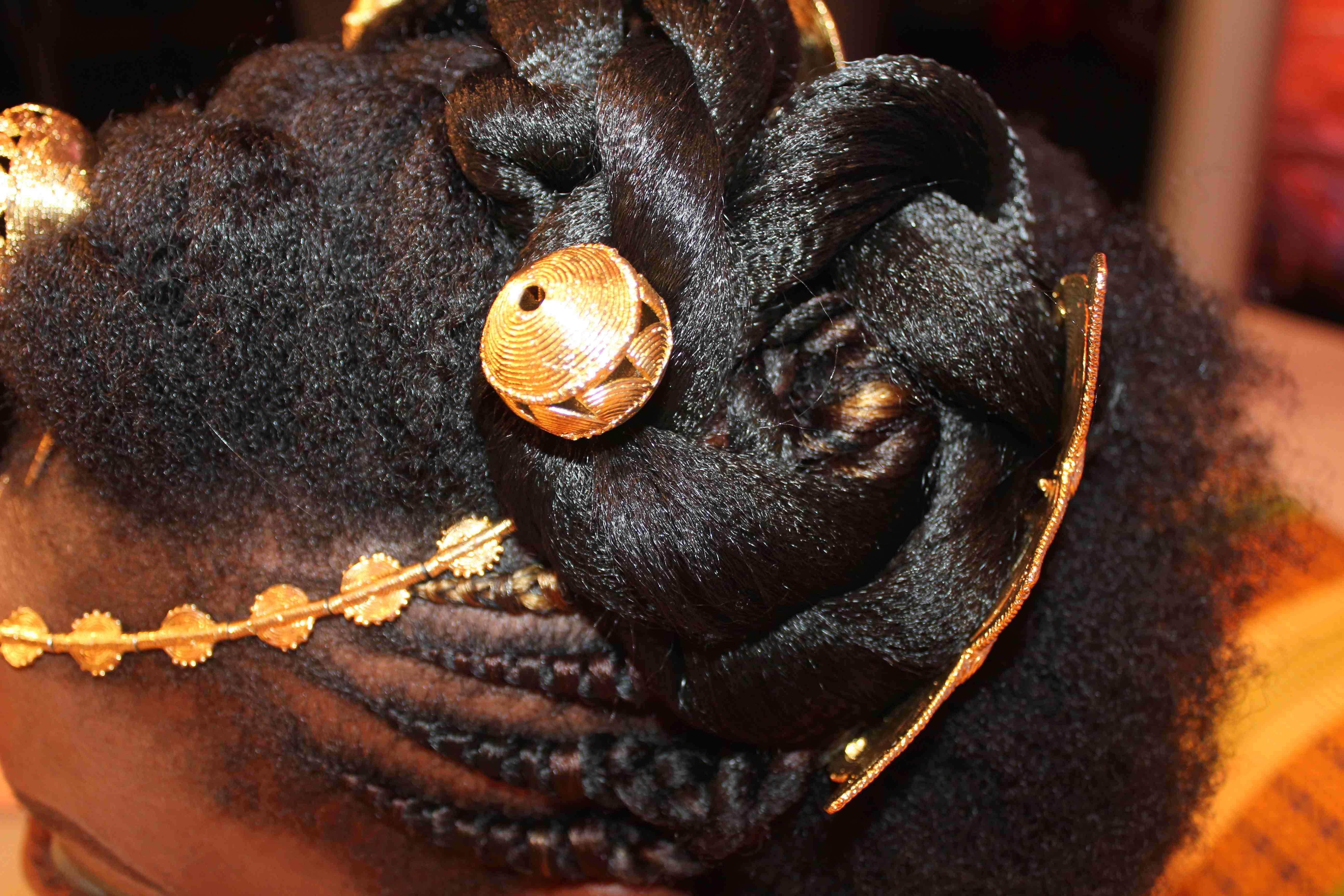 coiffure mariage akan- akan weddind hairstyle