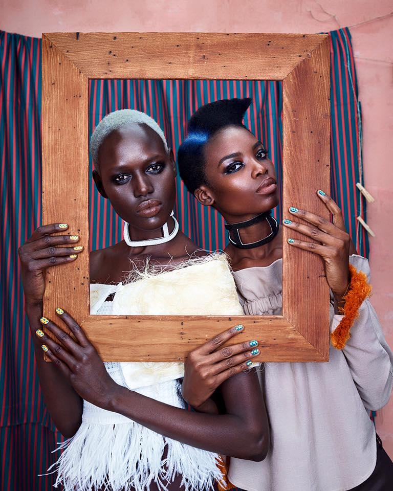 ajak deng maria borges models african designer