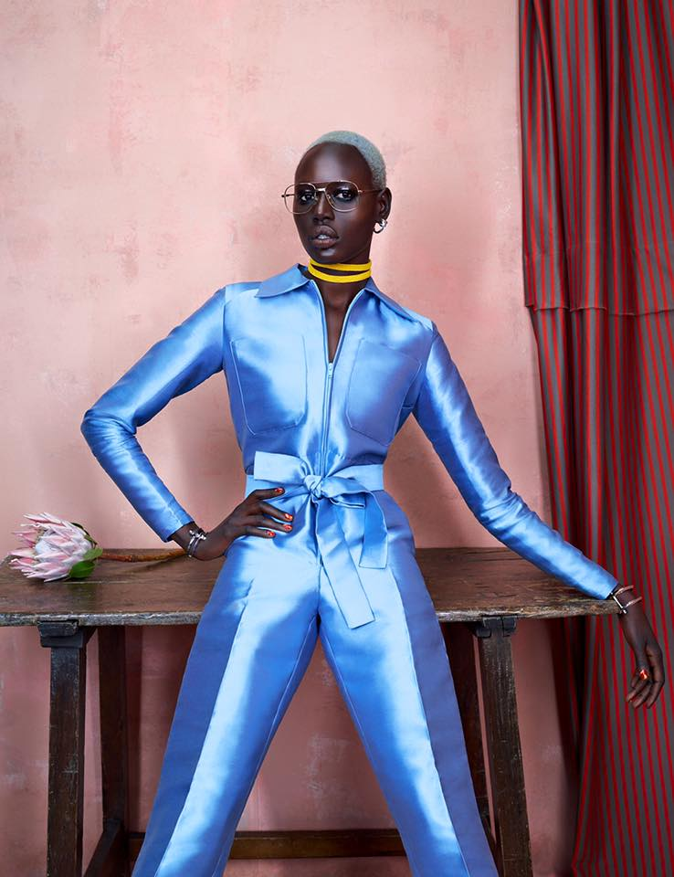 ajak deng model african fashion
