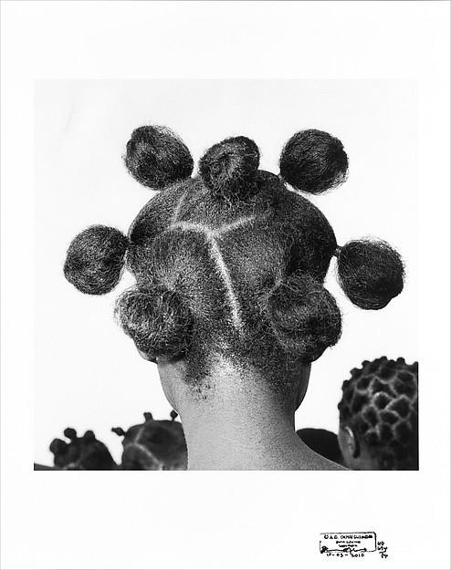 J.D. 'Okhai Ojeikere (Nigerian, 1930–2014) Untitled (Mkpuk Eba), 1974