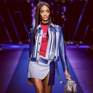 jourdandunn for versaceofficial Milan FashionWeek ss17 runway catwalk fashionshow blackmodelhellip