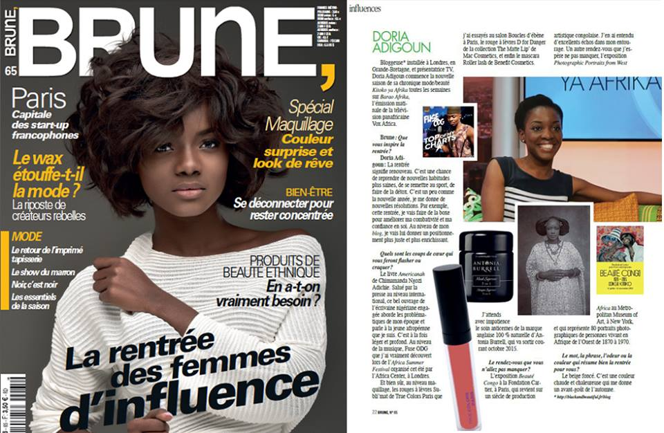 brune magazine Doria-Adouke black and beautiful