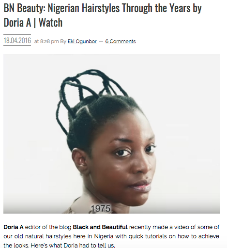 bella naija black and beautiful doria adouke