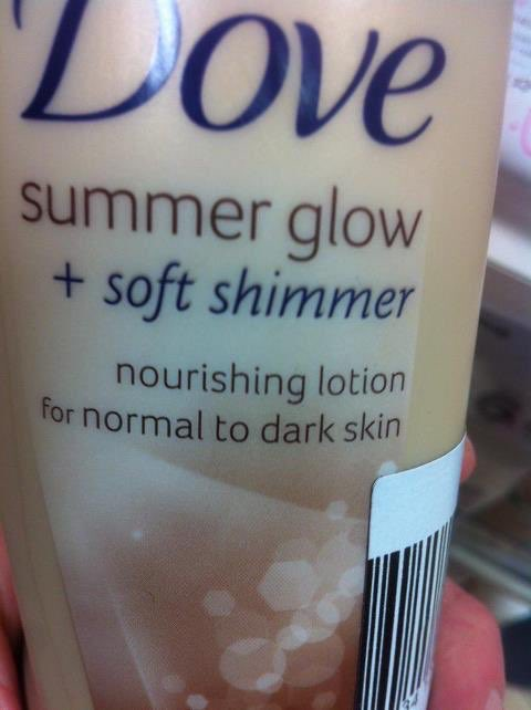 normal to dark skin dove