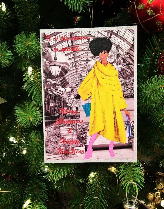 afro american christmas card