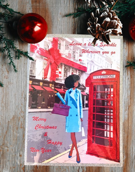 Black woman christmas cards