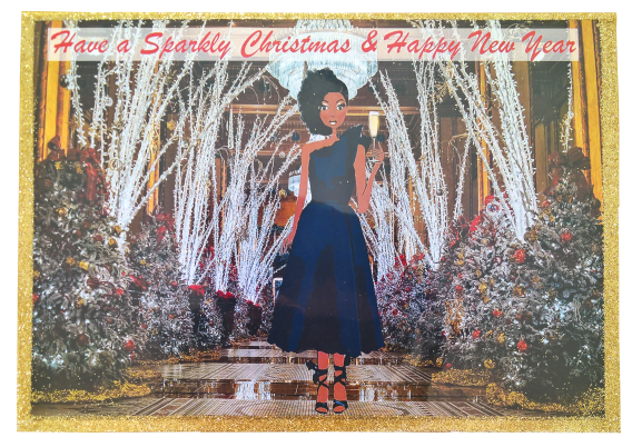 black girl merry christmas cards