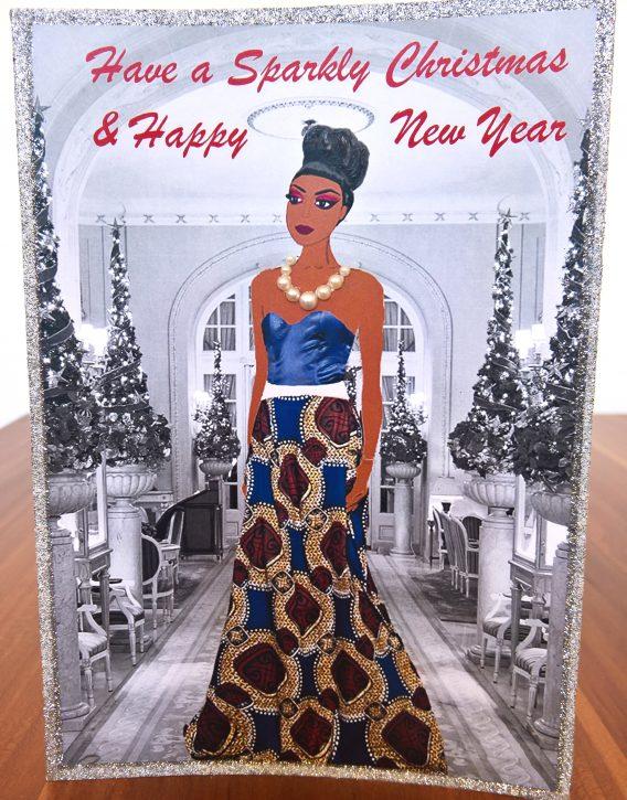 Fashion illustration christmas cards