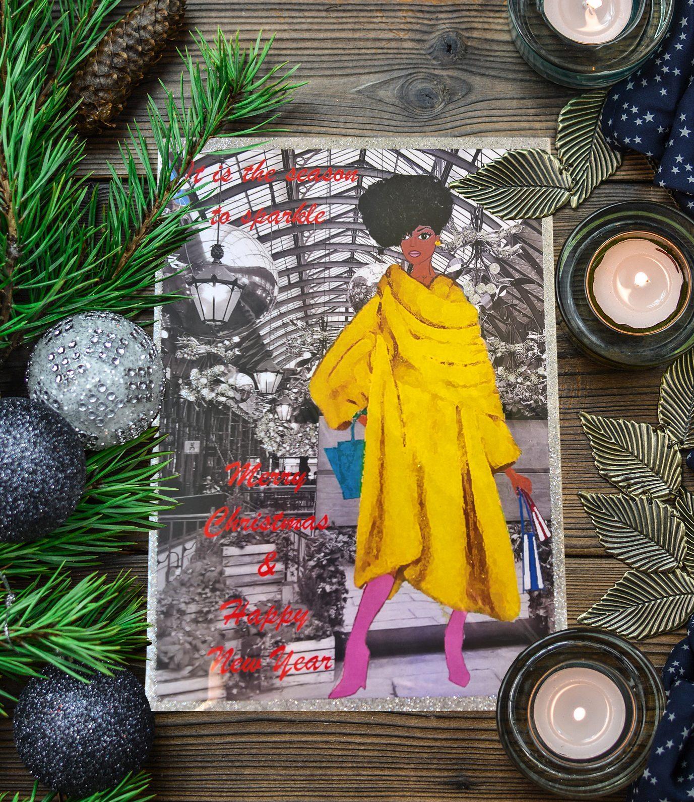 black american christmas card  black and beautiful shop