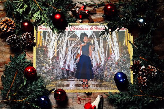 black girl merry christmas cards
