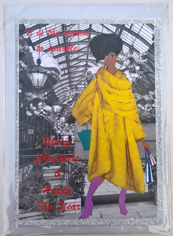 Afro American Women Christmas Cards