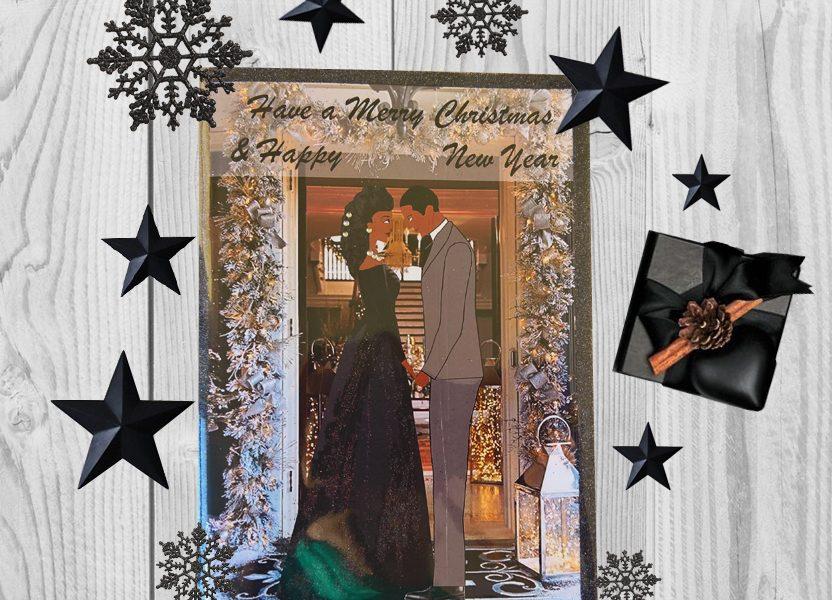 Black Couple Christmas cards2