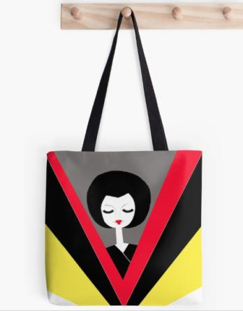 afro geisha tote bag