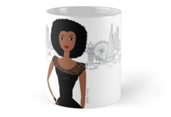 BLACK GIRL london mug