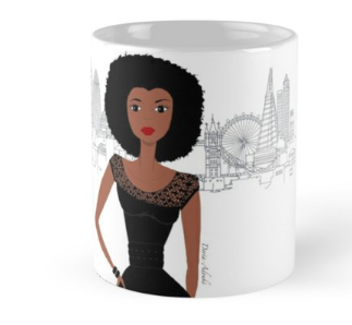 black girl in london mug