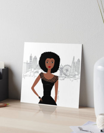 black girl london art board