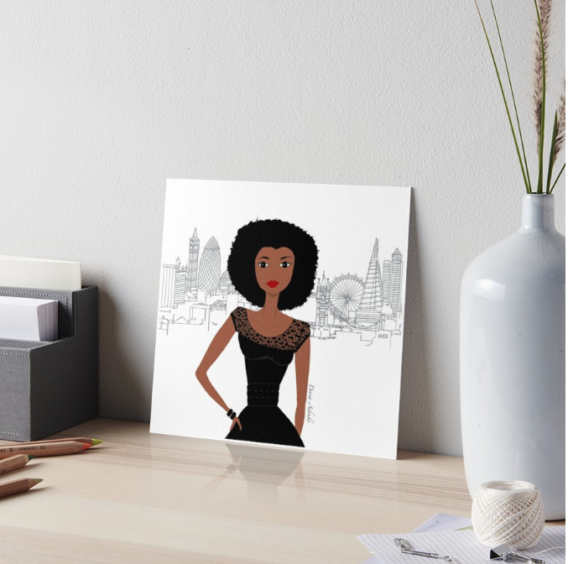black girl london art board