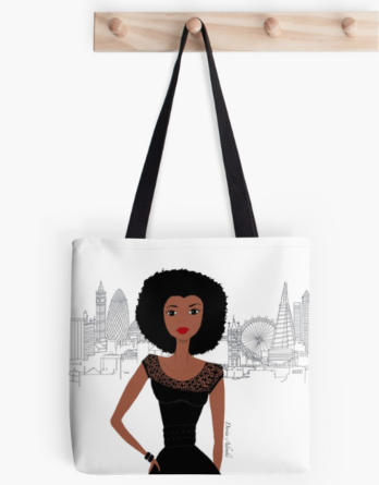 black girl london totebag