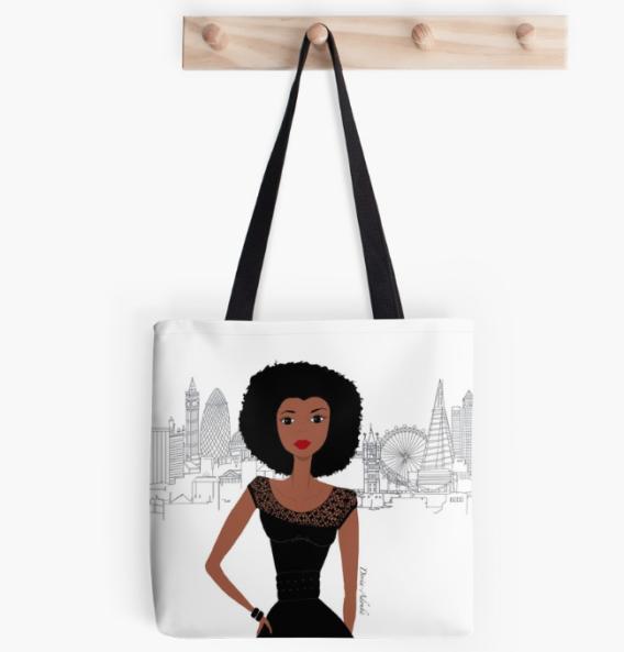 black girl london totebag