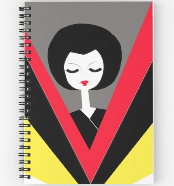 afro geisha notebooks