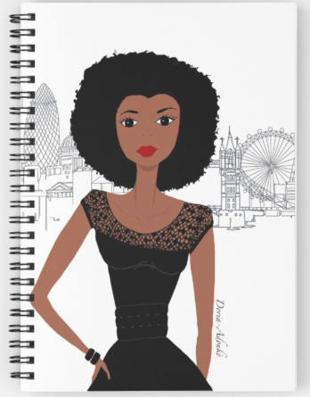 black girl in london notebook