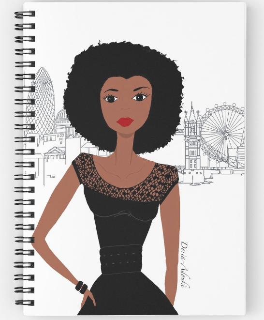 black girl in london notebook