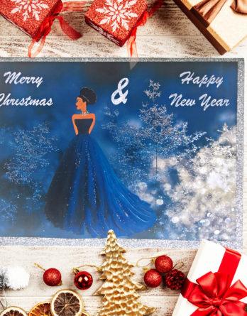 black-princess-christmas-cards