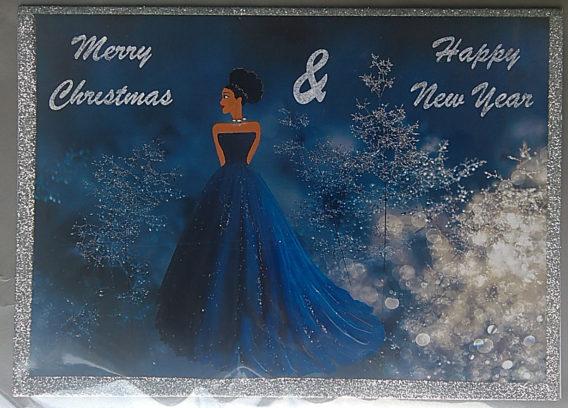 snow black christmas cards