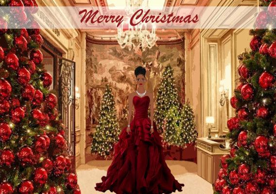 Black Cinderella Christmas card