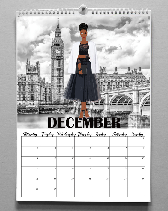 Fashion Illustration Calendar