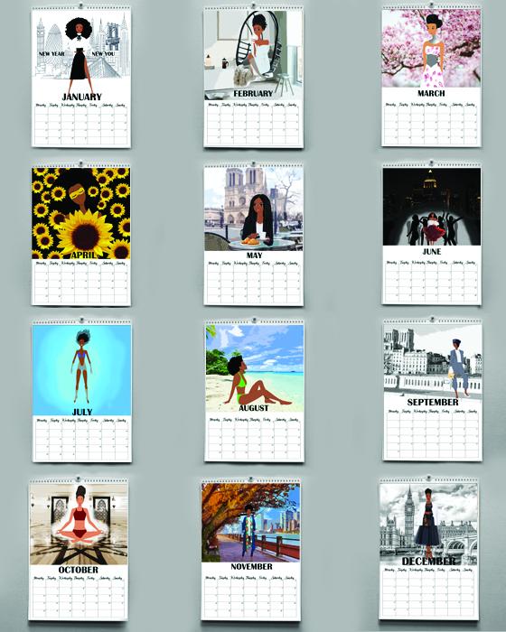 black girl calendar