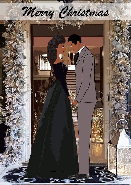 mahogany couple christmas cards
