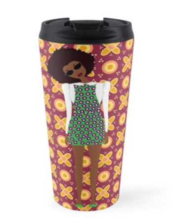 black girl magic travel mug