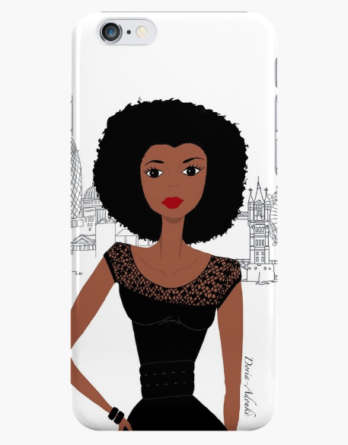 black-woman-iphone-case