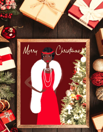 vintage african american christmas cards