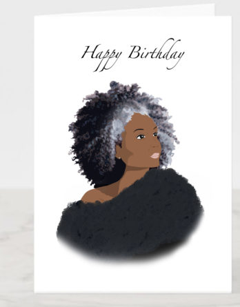 black mother birthday card