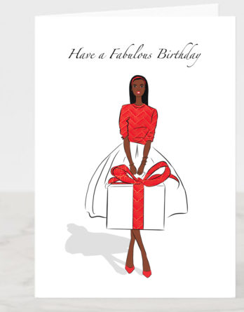 african birthday card
